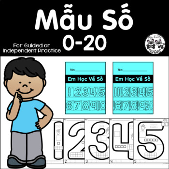 Vietnamese Student Number Anchor Charts 0-20