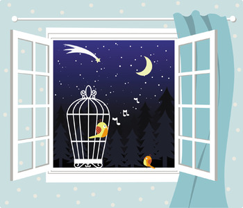 View From The Open Window Clip Art The Seasons Time Of