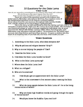 """Viewer Guide for """"10 Questions for the Dalai Lama"""""""