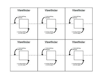 Viewfinder Template: Elementary, Middle, or High School Art Resource