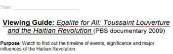 Viewing Guide: Egalite for All Toussaint Louverture documentary