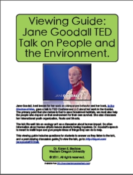 Viewing Guide: Jane Goodall TED Talk on People and the Environment
