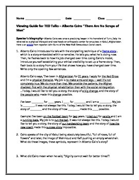 Alberto Cairo There Are No Scraps of Men TED Talk: Free Viewing Guide