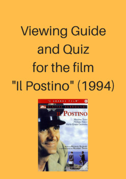 """Viewing Guide for the Film """"Il Postino"""" (1994)"""