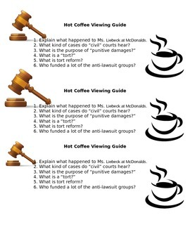 Viewing Guide for the documentary Hot Coffee