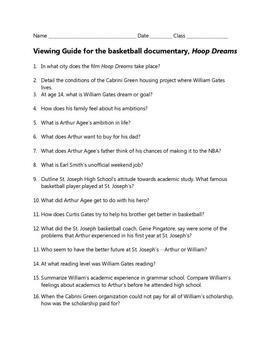Hoop Dreams Viewing Guide