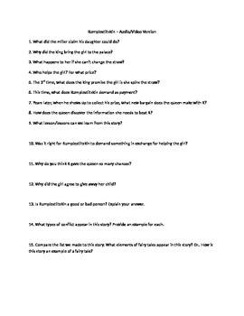 Viewing Questions for Rumplestiltskin