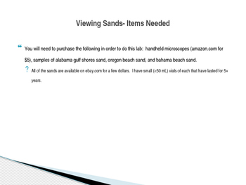 Viewing Sands Lab