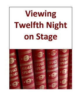 Viewing Twelfth Night on Stage
