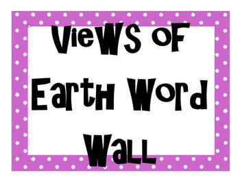 Views of Earth Word Wall