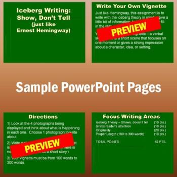 Vignette Writing (Modeling Hemingway's Iceberg Theory)