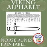 Viking Alphabet Norse Runes Printable Worksheet