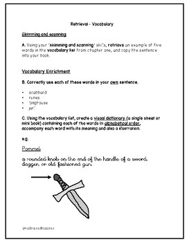 Viking Boy by Tony Bradman Chapter 1 Comprehension Skill Specific Questions Y5/6