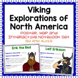 Viking Exploration of North America Poster Map and Interac