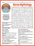 VIKING GODS & NORSE MYTHOLOGY Word Search Puzzle Worksheet Activity