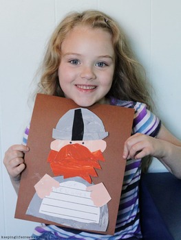 Viking Man Craftivity Template