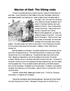Viking Raids Historical Fiction Reading with Questions