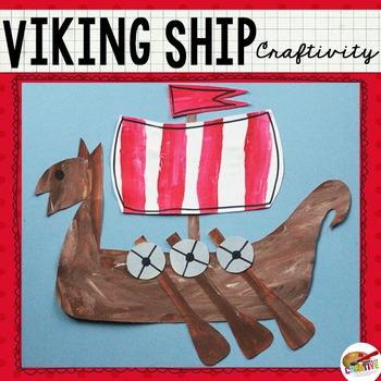 Viking Ship Craftivity Template