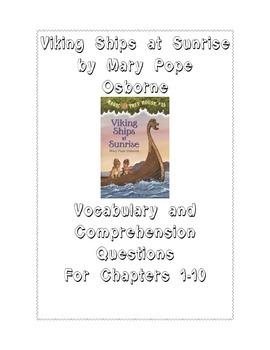 Viking Ships at Sunrise by Mary Pope Osborne: Vocabulary/C