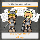 Viking Themed Maths Worksheet - 4th Grade