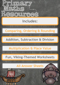 Viking Themed Maths Worksheet - 4th Grade