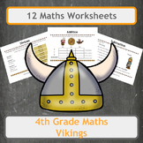 Viking Themed Maths Worksheets - 4th Grade