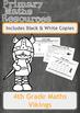 Viking Themed Maths Worksheets - 4th Grade