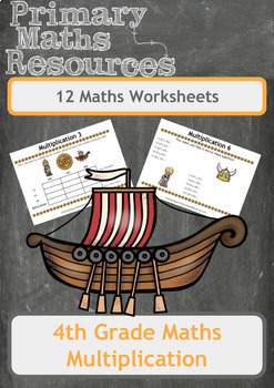 Fun Viking Themed Multiplication Problems (Including Multiples) for 4th Grade