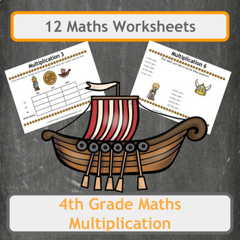 Fun Viking Themed Multiplication Problems (Including Multi