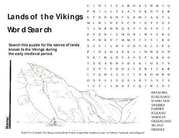 Viking Themed Word Searches