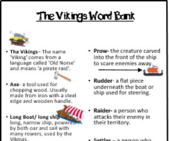 Viking Word Bank