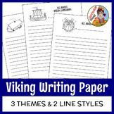 Viking Writing Paper - Vikings, Longhouses & Longships