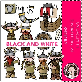 Vikings by Melonheadz BLACK AND WHITE