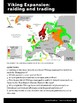 Viking expansion, student worksheet, map activity