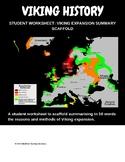Viking expansion, student worksheet, summary scaffold