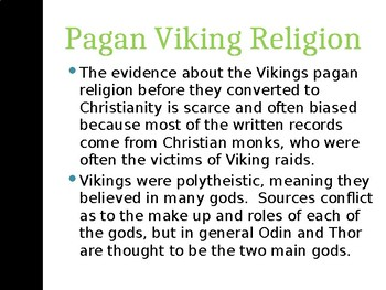 Viking religion and gods PowerPoint