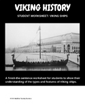 Viking ships, student worksheet, finish the sentences