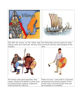 Vikings 3 part cards