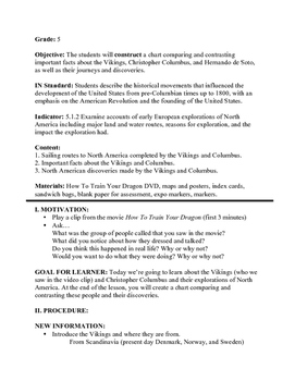 Vikings/Christopher Columbus Lesson Plan