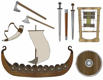 Vikings Clip Art: People and Artifacts (COLOR ONLY)
