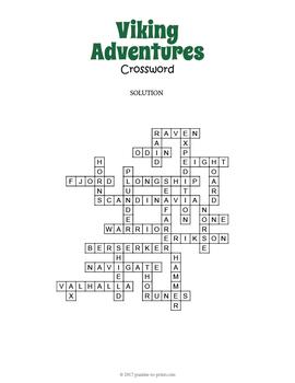 Vikings Crossword Puzzle