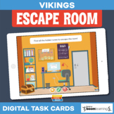 Vikings • Escape Room • Boom Cards • Distance Learning