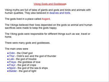 Vikings - Gods and Goddesses flipchart
