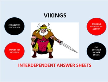 Vikings: Interdependent Answer Sheets Activity