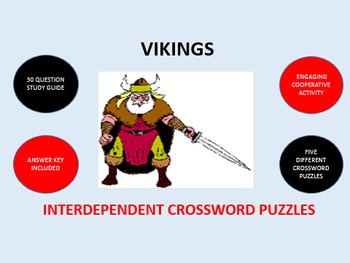 Vikings: Interdependent Crossword Puzzles Activity