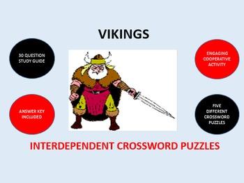 Vikings: Interdependent Crossword Puzzles Activity