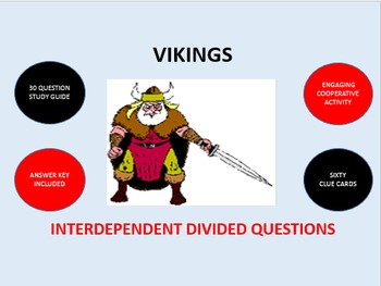 Vikings: Interdependent Divided Questions Activity