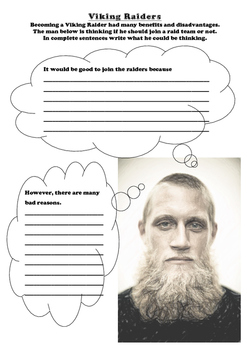 Vikings - Raider worksheet