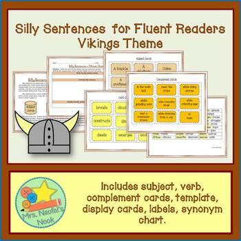 Word Work Vikings Silly Sentences for Fluent Readers