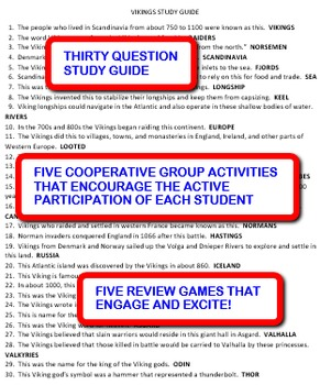 Vikings: Study Guide and Activity Pack